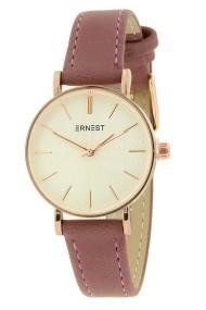 """Ernest horloge """"Mini-Misty"""" donker oudroze"""