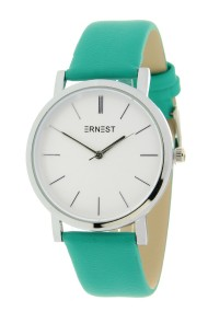 "Ernest horloge ""Silver-Andrea"" turquoise"