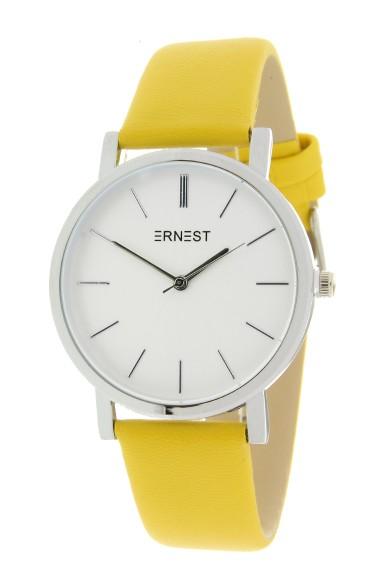 """Ernest horloge """"Silver-Andrea"""" geel"""