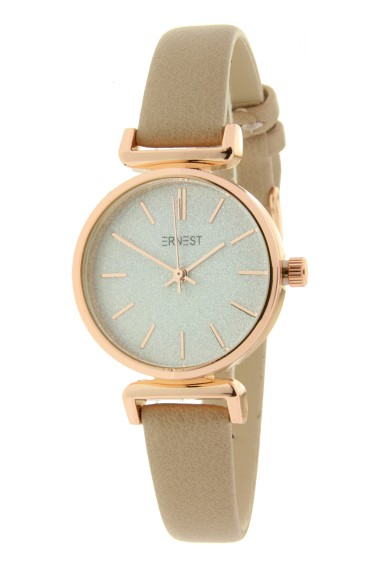 """Ernest horloge """"Rosé Sparkling!"""" taupe"""