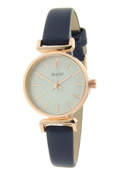 """Ernest horloge """"Rosé Sparkling!"""" donkerblauw"""