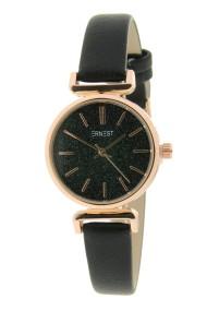 """Ernest horloge """"Rosé Sparkling!"""" zwart"""