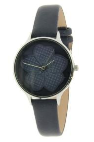 """Ernest horloge """"Blooming"""" donkerblauw"""