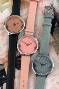 """Ernest horloge """"Blooming"""" zwart"""