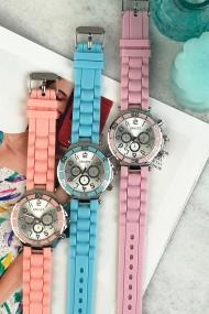 """Ernest horloge Silver-case"""" pink"""