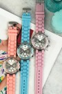 """Ernest horloge """"Silver-case"""" pink"""