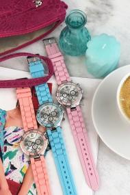 "Ernest horloge Silver-case"" peach"