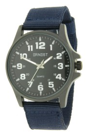 "Ernest herenhorloge ""New-Kick"" donkerblauw"