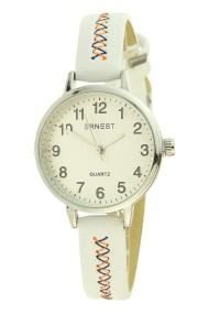 """Ernest horloge """"Stitch!"""" wit"""