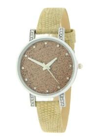 """Ernest horloge """"Livia-Lizard"""" beige"""