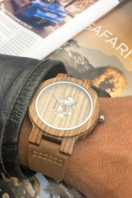 "Ernest ""Leather & Wood"" zwart B-64M"