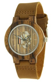 "Ernest ""Leather & Wood"" zwart B-76L"