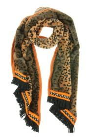 """Omslagdoek """"Long Leopard"""" bruin"""