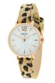 Ernest horloge Rosé-Cindy-Mini leopard beige