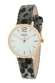 "Ernest horloge Rosé-Cindy-Mini"" leopard grijs"