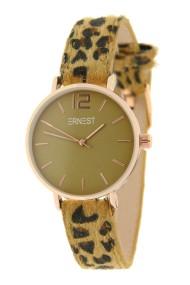 "Ernest horloge Rosé-Cindy-Mini"" leopard camel-olijf"