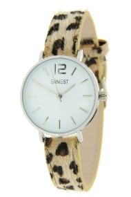 "Ernest horloge Silver-Cindy-Mini"" leopard beige"