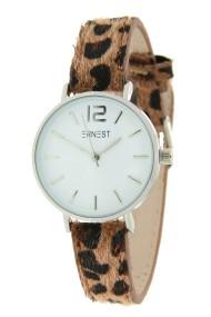 "Ernest horloge Silver-Cindy-Mini"" leopard bruin"