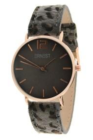 "Ernest horloge ""Rosé-Cindy-Leopard"" grijs-grijs"