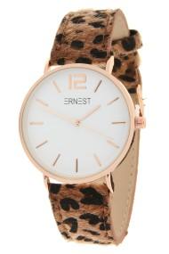 """Ernest horloge """"Rosé-Cindy-Leopard"""" bruin-wit"""