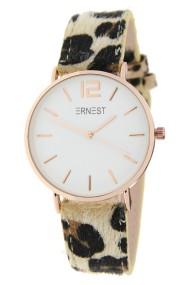"""Ernest horloge """"Rosé-Cindy-Leopard"""" beige-wit"""