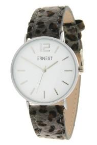"""Ernest horloge """"Silver-Cindy-Leopard"""" grijs-wit"""