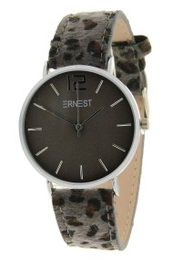 "Ernest horloge ""Silver-Cindy-Leopard"" grijs-grijs"