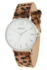 """Ernest horloge """"Silver-Cindy-Leopard"""" bruin-wit"""