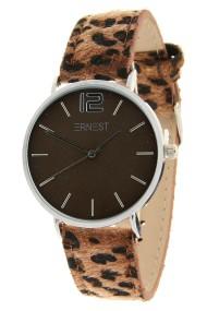 """Ernest horloge """"Silver-Cindy-Leopard"""" bruin-bruin"""