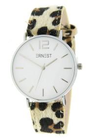 """Ernest horloge """"Silver-Cindy-Leopard"""" beige-wit"""