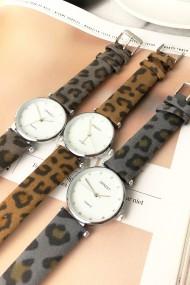 """Ernest horloge """"Fenna-Leopard"""" taupe"""