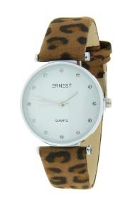 """Ernest horloge """"Fenna-Leopard"""" camel"""