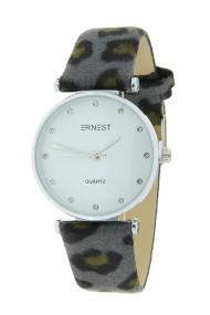 "Ernest horloge ""Fenna-Leopard"" grijs"