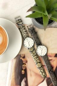 """Ernest horloge """"Zanna-Python"""" beige"""