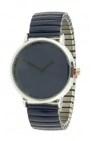 "Ernest horloge ""Fancy Plain"" donkerblauw"