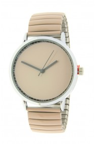 "Ernest horloge ""Fancy Plain"" beige"
