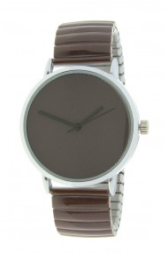 "Ernest horloge ""Fancy Plain"" choco"