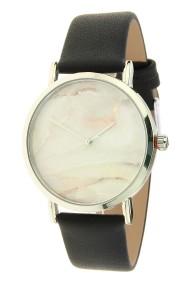 "Ernest horloge ""Silver-Marble"" zwart"