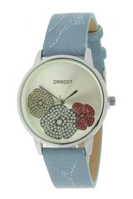 """Ernest horloge """"Aletia"""" jeansblauw"""