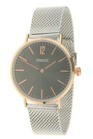 "Ernest horloge ""Metal-Lechita"" bi-color zwart-zilver"