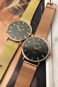 """Ernest horloge """"Romina"""" rosé glitter zwart"""