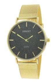 """Ernest horloge """"Romina"""" goud glitter zwart"""