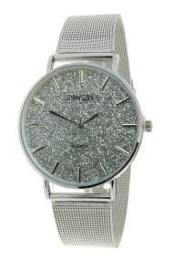 """Ernest horloge """"Romina"""" zilver glitter zilver"""