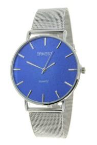 "Ernest horloge ""Romina"" zilver glitter blauw"