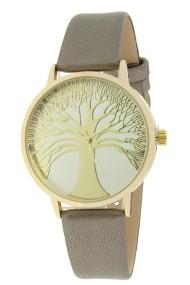 "Ernest horloge ""Tree Of Life"" metallic donkergrijs"