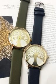 "Ernest horloge ""Tree Of Life"" groen"