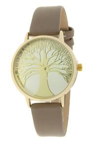 "Ernest horloge ""Tree Of Life"" taupe"