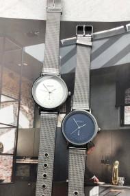 """Ernest horloge """"Elvira"""" zilver-blauw"""