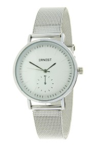 "Ernest horloge ""Elvira"" zilver-creme"