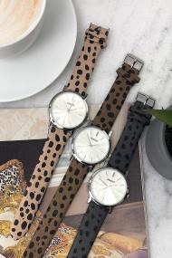 """Ernest horloge """"Silver-Andrea-Cheetah"""" grijs"""